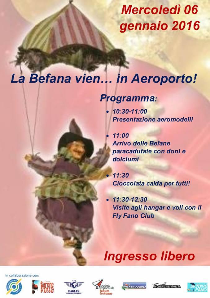 La befana in Aeroporto ein Piazza a Fano